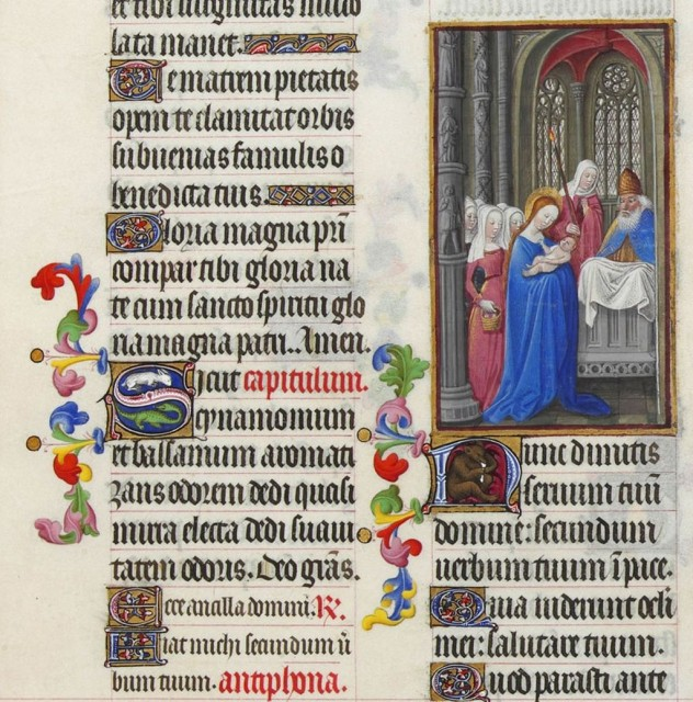 The start of the Nunc dimittis in the Très Riches Heures du Duc de Berry. Photo: public domain.