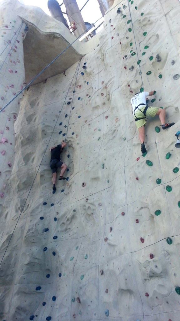 Persevering on the rock wall with Stephen Nichols, Friday, Feb. 27, 2015.