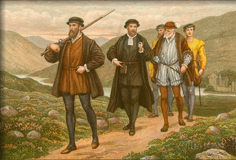 ArtArtistsArtists by NameR J.M.L. Ralston John Knox Bearing the Sword before George Wishart, after the Attempted Assassination at Dundee, J.M.L. Ralston