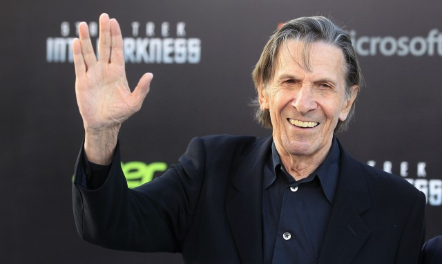 "Leonard Nimoy adapted the ""shin"" from his Jewish background for the famed Vulcan hand salute. image: Reuters"