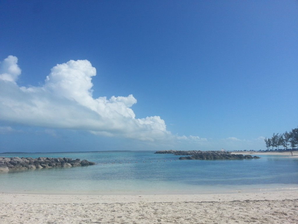 The beach at CocoCay, Bahamas, Monday, Feb. 23, 2015.