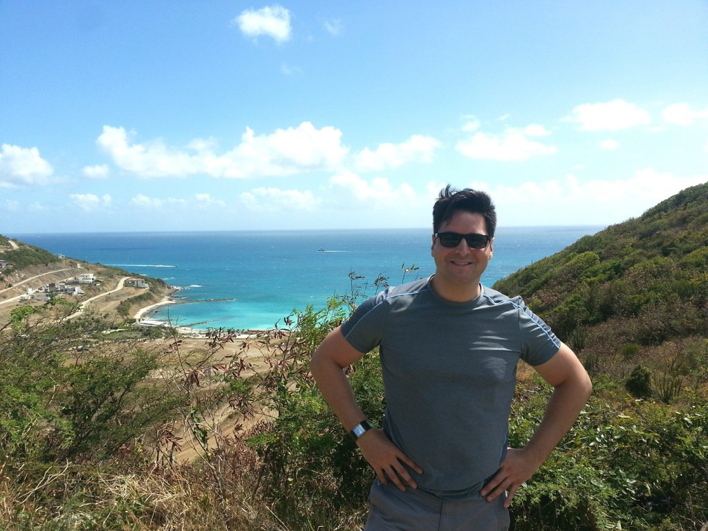 Overlooking Cay Bay at the island of St. Maarten, on Thursday, Feb. 26, 2015.