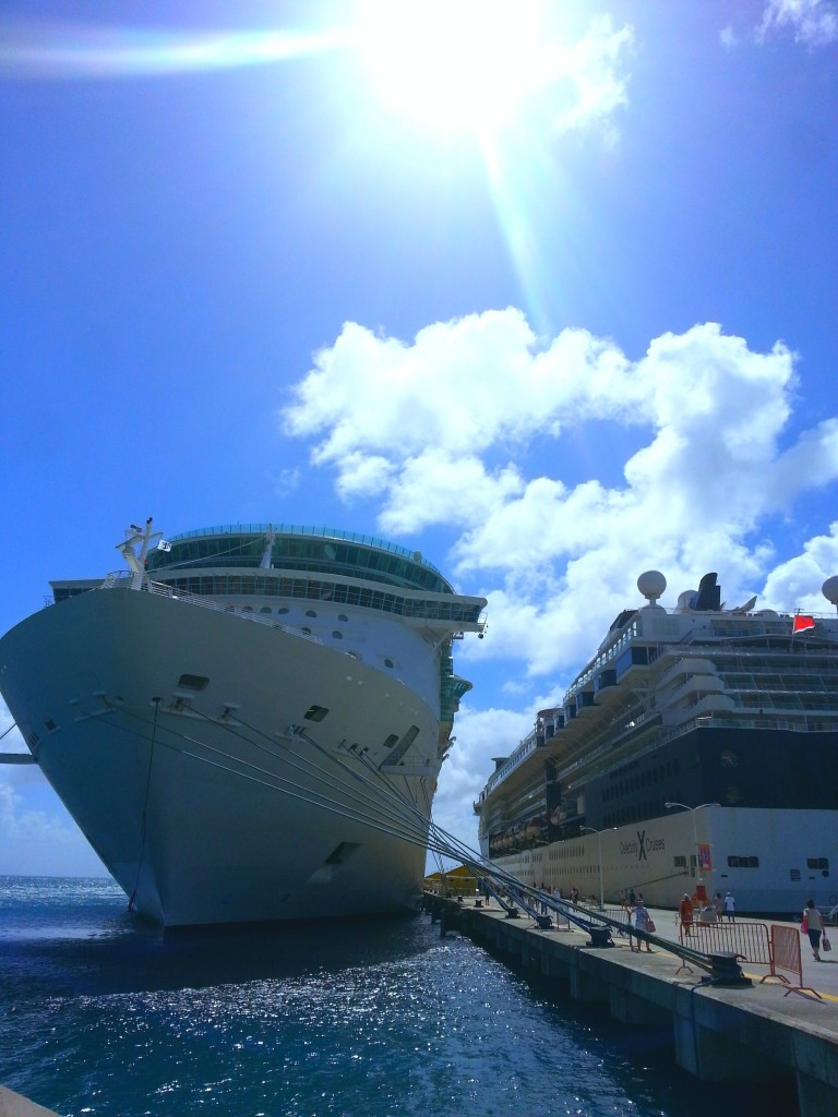 The Freedom of the Seas is docked at Point Blanche at the island of St. Maarten, British Virgin Islands, Thursday, Feb. 26, 2015.