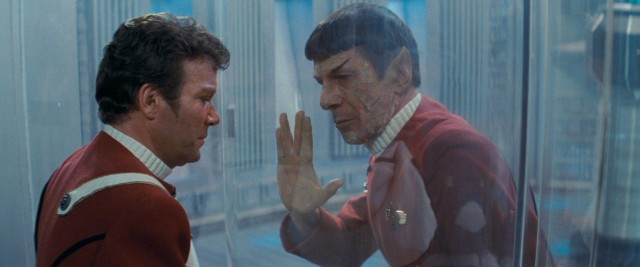 Captain Spock succumbs to the effects of antimatter radiation poisoning to save the lives of the U.S.S. Enterprise crew. image: Paramount Pictures