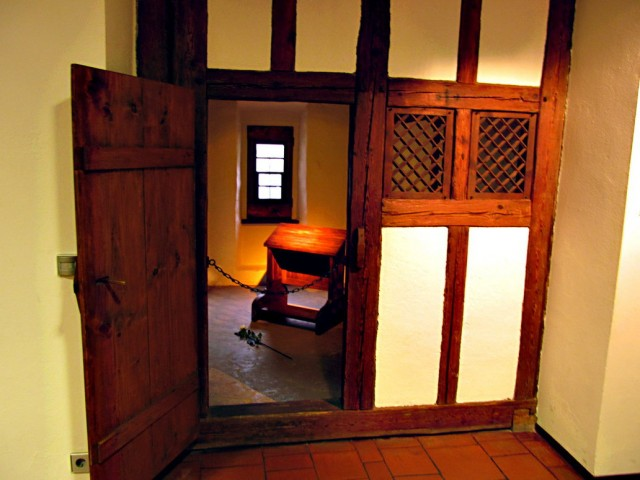 The monastic cell in the convent of Austin Friars, Erfurt, Thuringia, Germany, that, according to local tradition, was used by Martin Luther from 1505 to 1507. This was also the convent where he took the monastic vows. photo: irrlicht71
